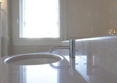 Bath vanity top and sink marble