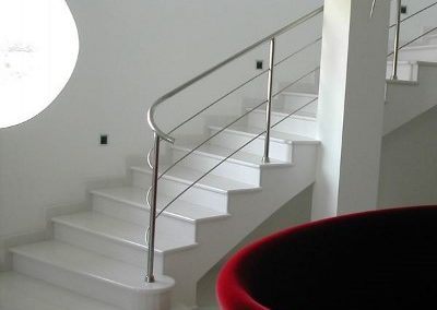 Whitw Thassos marble interior stairs