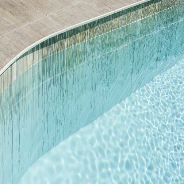 Laminated Gres Porcelain Slab Outdoor Pool Detail