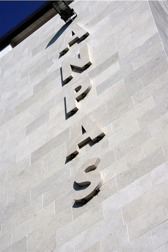 marble grolla special works letters on wall