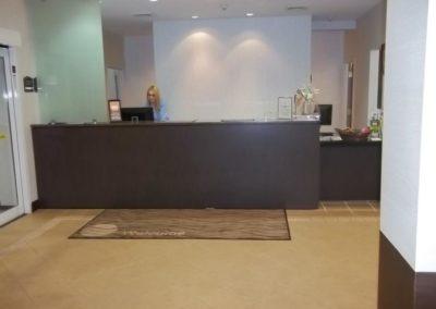 Hotel lobby and elevator floor