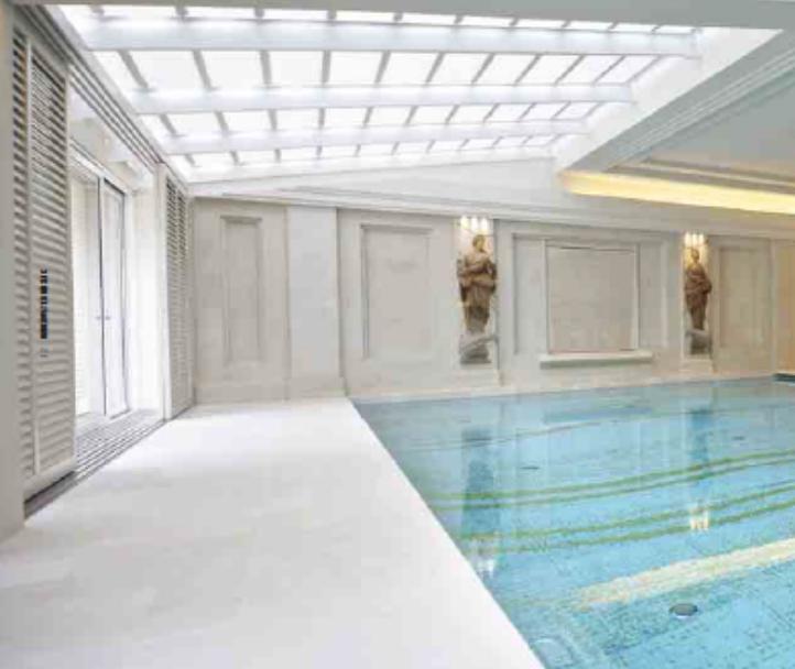 Italian glass mosaic pool tiles
