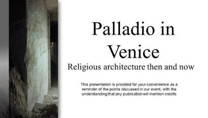 Tasting Palladio: A Tale of Stone and Wine